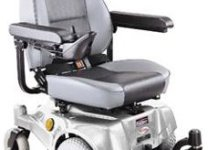 Compact Mid-Wheel Drive Power Chair, Silver