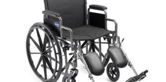 Self Transport Folding Wheelchair with Footrests Review