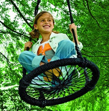 Round-and-Round Nylon Outdoor Rope Swing Tree