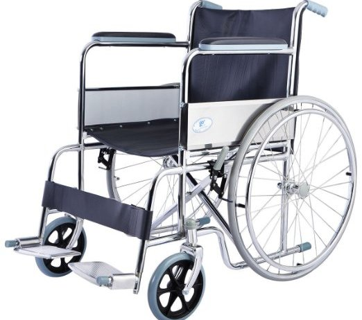 Lightweight Foldable Folding Wheelchair w/Swingaway Footrest FDA