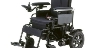 The Medical Drive Cirrus Plus is a folding electric wheelchair