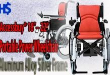 Accessbuy's PortablePower Wheelchair Aluminum Alloy