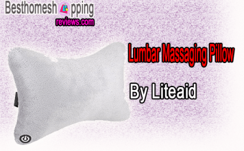 Liteaid Lumbar Massaging Pillow