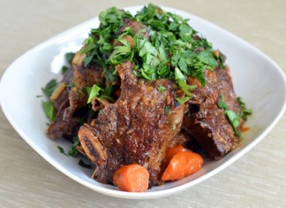 PRESSURE COOKER PORCINI AND TOMATO BEEF SHORT RIBS