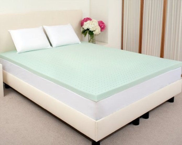 Sleep Studio 2-Inch ViscO2 Green Tea Memory Foam Mattress Topper