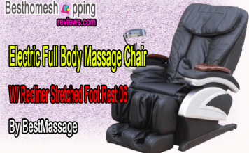 Electric Full Body Massage Chair W/ Recliner Stretched Foot Rest 06ByBestMassage