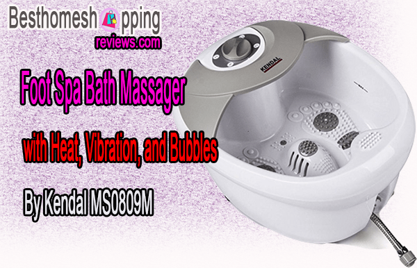Foot Spa Bath Massager with Heat, Vibration, and Bubbles By Kendal MS0809M