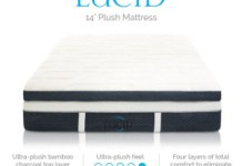LUCID 14 Inch Plush Memory Foam Mattress Review