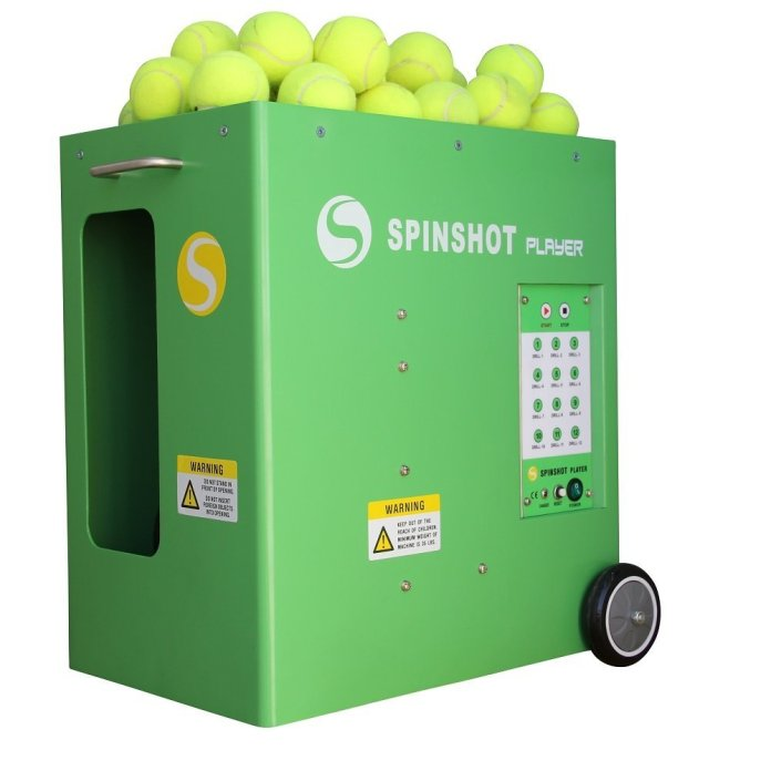 Spinshot Tennis Ball Machine with Phone Remote Supported