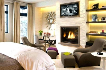Beautiful Modern Fireplaces For Winter Design Ideas28
