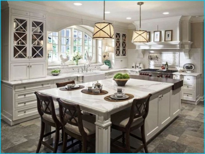 Fabulous Kitchen Island Decorating Ideas To Become A Comfortable Cooking Place For You36