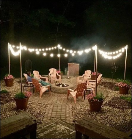 Amazing Backyard Decoration Ideas For Comfortable Your Outdoor47