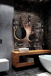 Amazing Industrial Bathroom Decorating Ideas For Your Inspiration05
