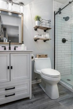 Amazing Industrial Bathroom Decorating Ideas For Your Inspiration26