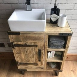 Amazing Industrial Bathroom Decorating Ideas For Your Inspiration30