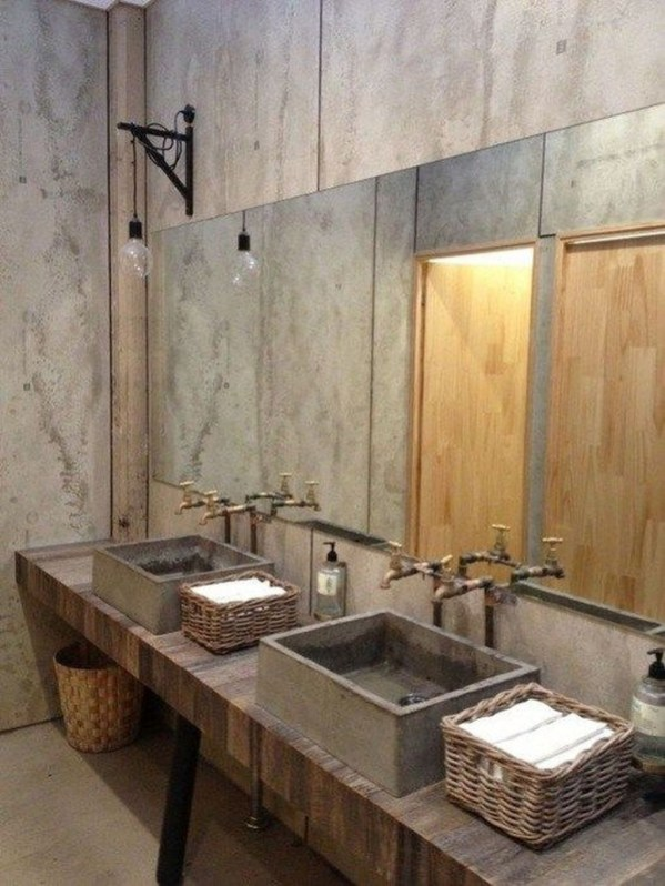 Amazing Industrial Bathroom Decorating Ideas For Your Inspiration46