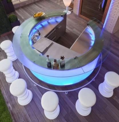 Awesome Outdoor Mini Bar Design Ideas You Must Have For Small Party38
