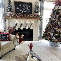 Best Christmas Living Room Decoration Ideas For Your Home10
