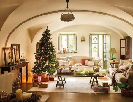 Best Christmas Living Room Decoration Ideas For Your Home30