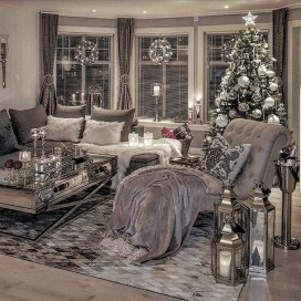 Best Christmas Living Room Decoration Ideas For Your Home36