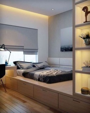 Chic And Warm Minimalist Bedroom Interior Ideas For Feel Comfort27