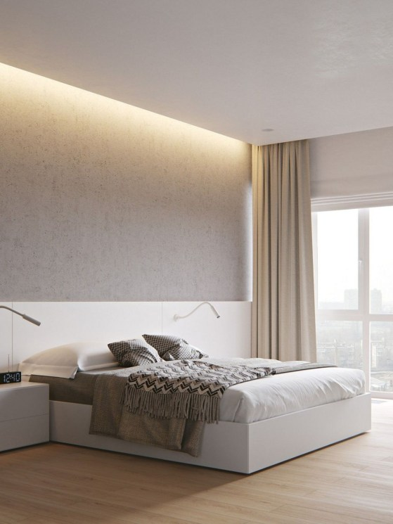 Chic And Warm Minimalist Bedroom Interior Ideas For Feel Comfort38
