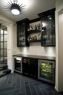 Gorgeous Minibar Designs Ideas For Your Kitchen25