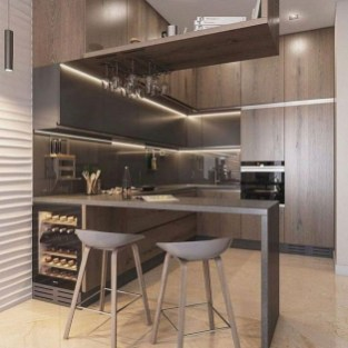 Gorgeous Minibar Designs Ideas For Your Kitchen42