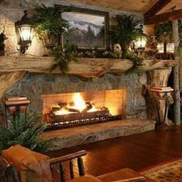Marvelous Rustic Christmas Fireplace Mantel Decorating Ideas39