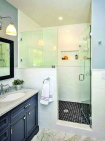 Amazing Small Glass Shower Design Ideas For Relaxing Space32