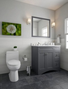 Best Gray And White Bathroom Ideas For13
