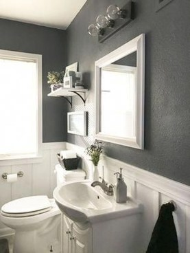 Best Gray And White Bathroom Ideas For36