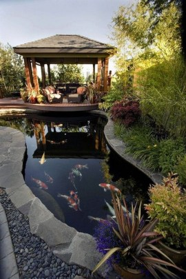 Fabulous Fish Pond Design Ideas For Your Home Yard15