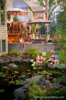 Fabulous Fish Pond Design Ideas For Your Home Yard27