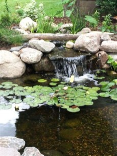 Fabulous Fish Pond Design Ideas For Your Home Yard32