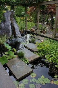 Fabulous Fish Pond Design Ideas For Your Home Yard39