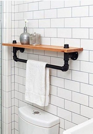 Industrial Bathroom Shelves Design Ideas09