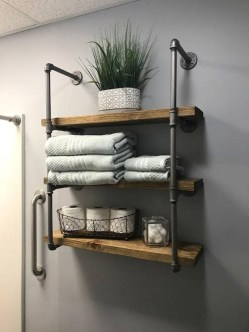 Industrial Bathroom Shelves Design Ideas11