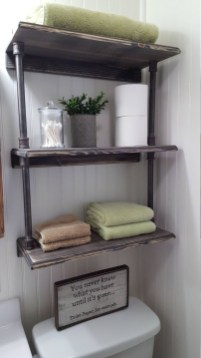 Industrial Bathroom Shelves Design Ideas12