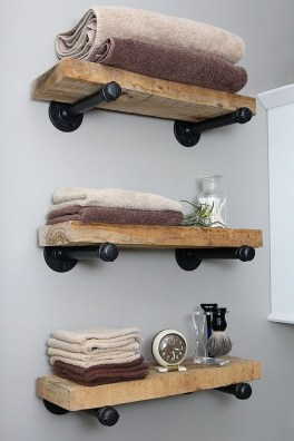 Industrial Bathroom Shelves Design Ideas17