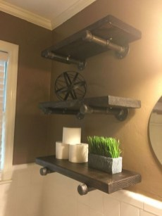 Industrial Bathroom Shelves Design Ideas19