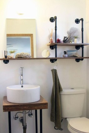 Industrial Bathroom Shelves Design Ideas33
