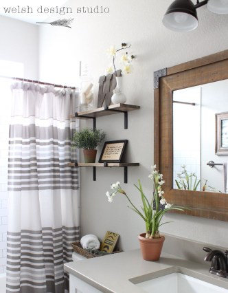 Industrial Bathroom Shelves Design Ideas35