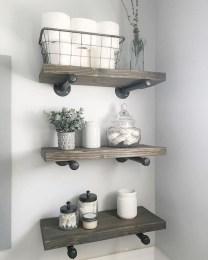 Industrial Bathroom Shelves Design Ideas38