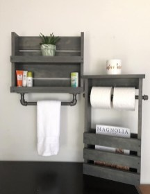 Industrial Bathroom Shelves Design Ideas39