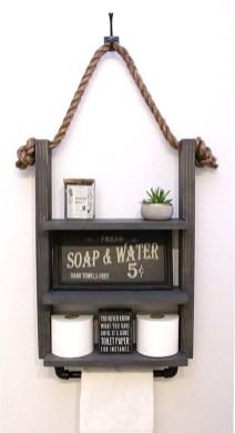 Industrial Bathroom Shelves Design Ideas42