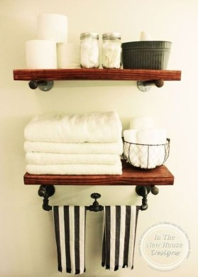 Industrial Bathroom Shelves Design Ideas45