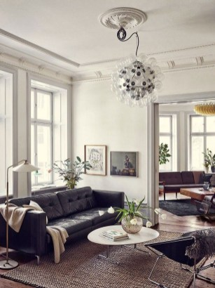 Luxury Black Leather Living Room Sofa Ideas For Comfortable Living Room09