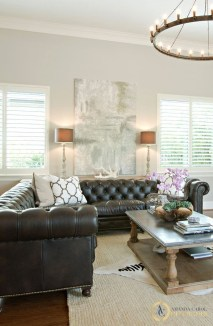 Luxury Black Leather Living Room Sofa Ideas For Comfortable Living Room13