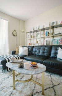 Luxury Black Leather Living Room Sofa Ideas For Comfortable Living Room19